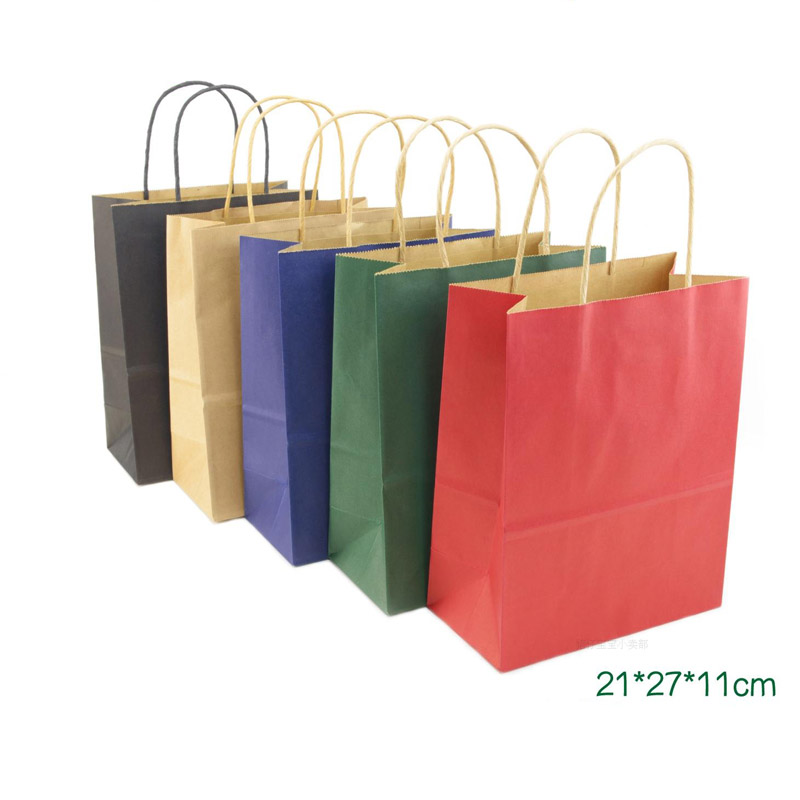 Brown Twist Handle Paper Party And Gift Carrier Bag Bags With Twisted Handles