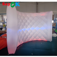 2018 New design inflatable photo booth backdrop led inflatable wall for party wedding advertising