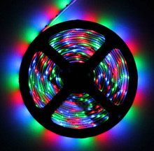 5m LE Strip Light SMD 3528 RGB 300 LED RGB Flexible strip lights Ribbon Tape Lamp DC12V Non-waterproof 60Leds/M for Home decoration Outdoor(China)