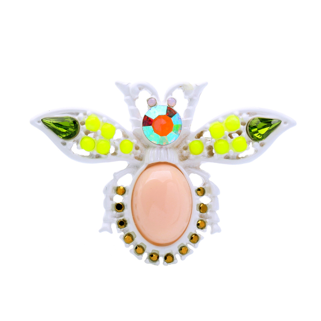 Wholesale Colorful Cute Insect Brooch Pins 2017 Designer Jewelry Ali