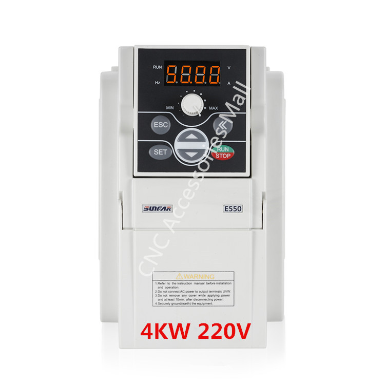 Original AC220V Frequency Inverter E550-2S0040B VFD Inverter 4kw E550 1000HZ with RS485 interface, support MODBUS