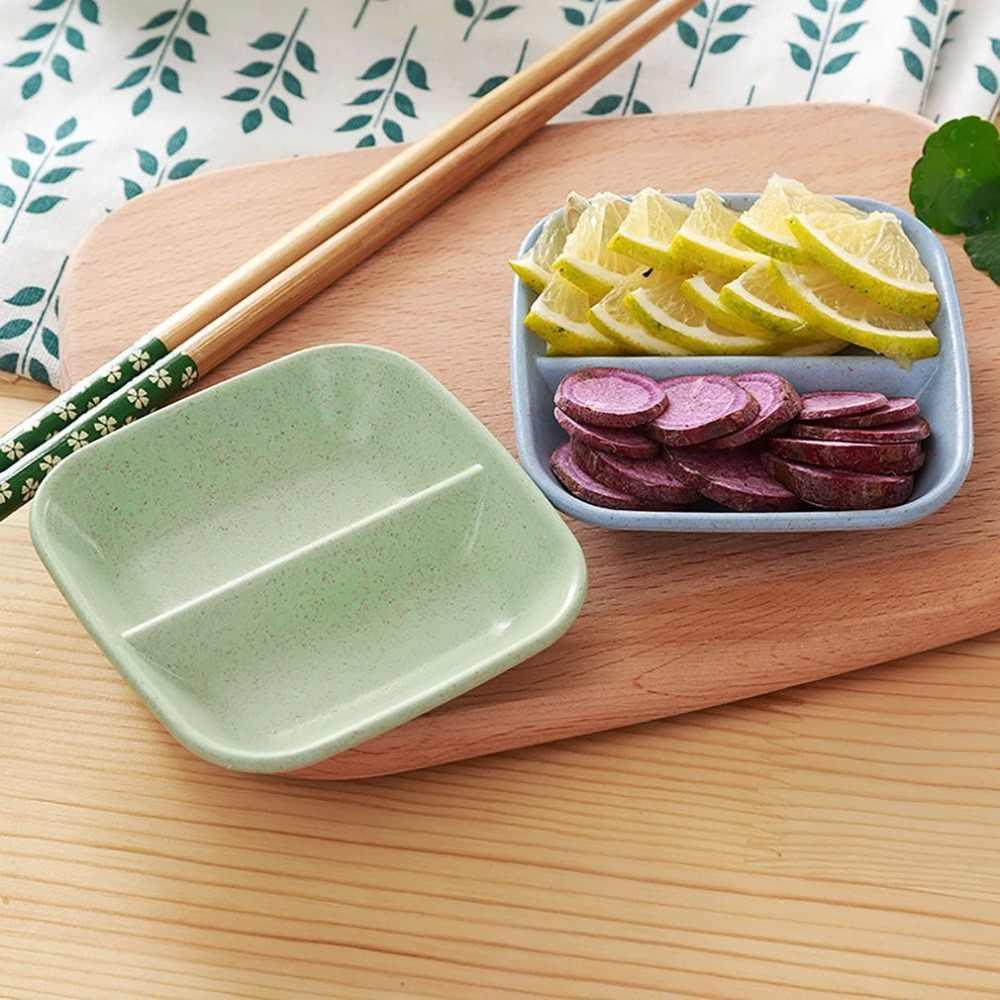 Kreatywny pszenica słoma przyprawa danie styl japoński sos ocet przyprawy ogórki przekąski małe naczynie oddzielne małe naczynie