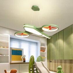 Verllas nowoczesne żyrandole ledowe światło dzieci niebieskie dziecko oświetlenie do sypialni domu samolot pokój dziecięcy AC85 265V żyrandol w Żyrandole od Lampy i oświetlenie na