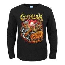 3 дизайна Gutalax рок Бренд рубашка с длинными рукавами 3D демонический череп Hardrock тяжелый трэш хлопок футболка camiseta уличная