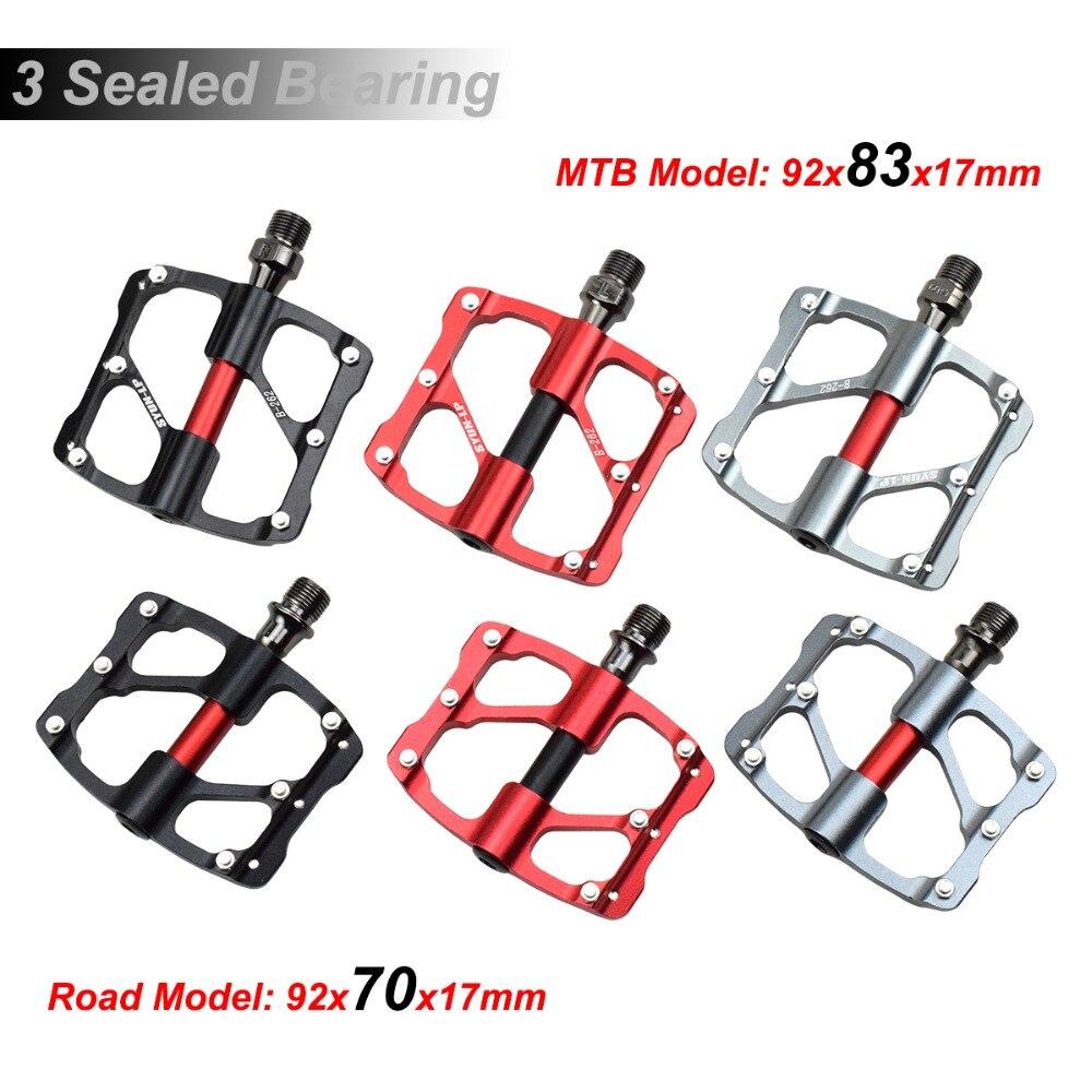 "1pair 9//16/"" Road MTB Mountain Bike Bicycle 3 Sealed Bearing Pedals Aluminum"