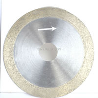 4 Inch 100mm X 20mm X 1mm Diamond Continuous Rim Saw Glass Wet Cutting Blade Arbor