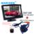 Auto coche que invierte la cámara con pantalla lcd monitor de pantalla ancha de 800*480 alambre + luces del ir + a prueba de agua para Hyundai I30 para Kia alma