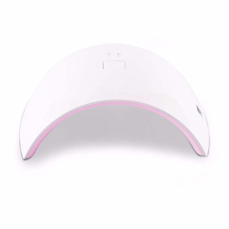 SUNUV sunone009cp + 36 w small pink nail lamp uv dryer for all gel nail on the nail 18 leds with 30 s / 60 s thumb button perfec