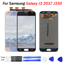 For SAMSUNG GALAXY J3 2017 LCD J330 J330F Display Touch Screen Digitizer Assembly Replacement J330f mobile