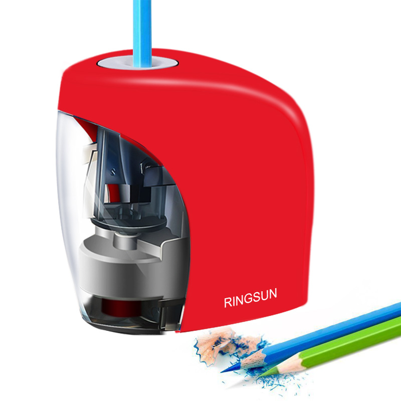 Auto elétrica Apontador de Lápis Escolares Apontador de Artigos de Papelaria para NO.1 2 (8mm) lápis e Lápis de Cor da Bateria/Carga USB Alimentado