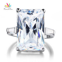 Peacock Star 8.5 Carat Created Diamond Solid 925 Sterling Silver Wedding Engagement Ring Jewelry CFR8117