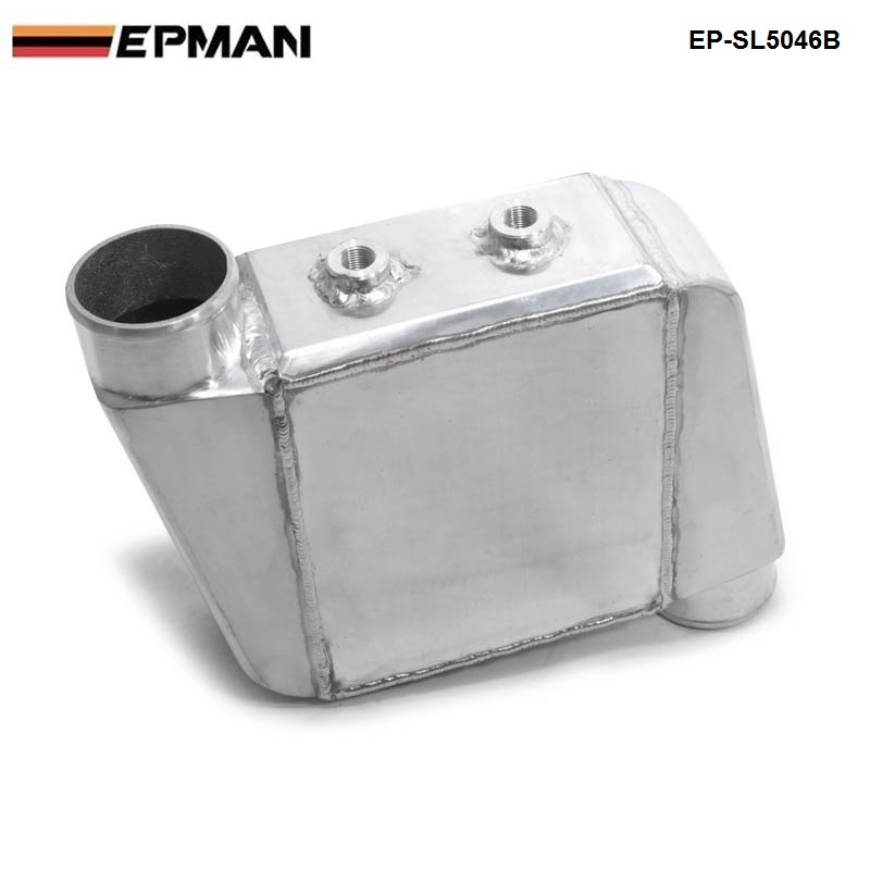 EPMAN - Universal Aluminum Bar & Plate Front Mount Water-To-Air Intercooler Inlet/Oulet 3.5 Core: 250 X 220 X 115mm EP-SL5046B epman universal aluminum water to air liquid racing intercooler core 250 x 220 x 115mm inlet outlet 3 ep sl5046c