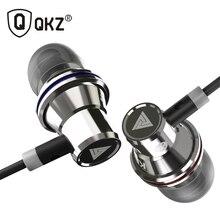 Fones de ouvido intra auriculares qkz kd3, headset com fio de cobre com áudio estéreo e som grave, metal e microfone de 3.5mm com entrada fones de ouvido