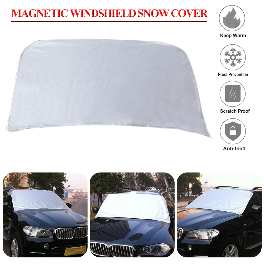 Car 210D Oxford Covers Windscreen Magnetic Cover Heat Sun Shade Anti Snow Frost Ice Sun Shield Dust Protector Winter Summer auto car windscreen snow ice frost windshield roof covers protector 610025