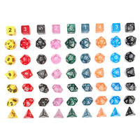 126Pcs Polyhedral Dice Set +18 pouch D4 D20 Dragons Dices DND RPG MTG Table Games Dice Multi Sided Games Dice 18 Set Top Quality
