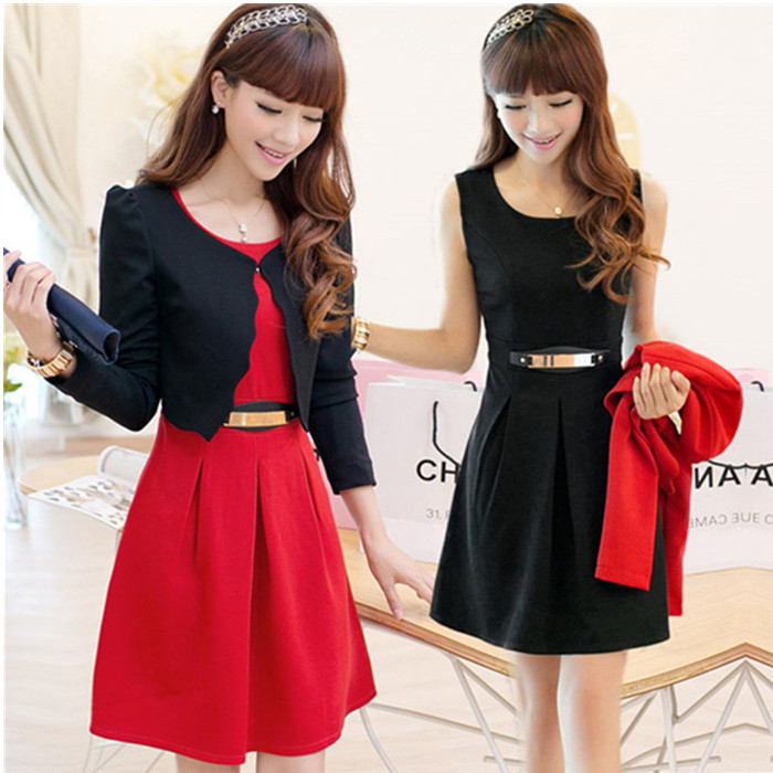 cd2db3eec2903 US $35.26 |2015 new dress suits autumn dress dress lady backing western  style two piece-in Dresses from Women's Clothing on Aliexpress.com |  Alibaba ...