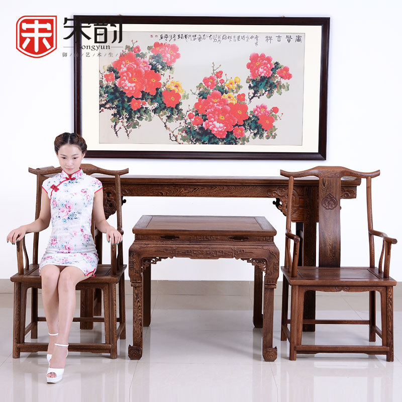 Song Yun Room Four Sets Of Antique Mahogany Hall Wood Desk Table For Chinese Text Table Taiwan Taiwan Entrance