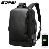 BOPAI Brand Enlarge Backpack USB External Charge 15 6 Inch Laptop Backpack Shoulders Men Anti Theft