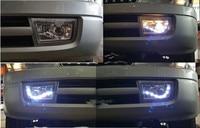 2 шт. автомобиль Стайлинг переднего бампера противотуманные для Toyota prado LC90 FJ90 96 03 светодиодный фонарь
