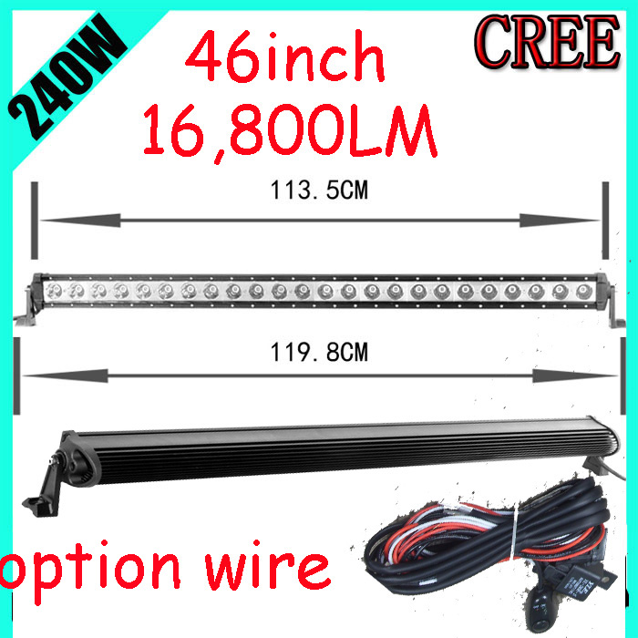 Free DHL/UPS/FEDEX ship! 46 240W 16800LM 10~30V,6500K,LED working bar;led offroad bar,Option wire harness,SUV,LED bar light free dhl ups fedex ship 41 150w 13000lm 10 30v 6500k led working bar led offroad bar option wire harness suv led bar light