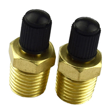 1 Pair 1/4 NPT Brass Tire Tyre Air Compressor Tank Fill Valves For  Universal Car 0.54 Inch Hexagon Accessories
