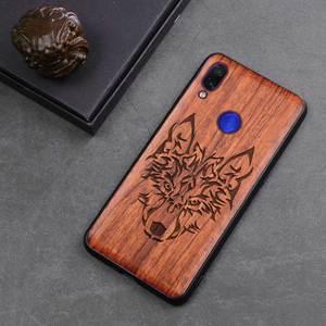 Image 5 - Redmi Note 7 etui z prawdziwego drewna funda dla Xiaomi Redmi Note 7 Note7 Pro etui z palisandru TPU odporna na wstrząsy obudowa na telefon