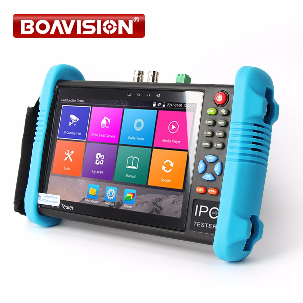New 7 Inch Handheld IPC AHD TVI CVI CCTV Tester IPC9800 Plus With H.265/H.264, 4K Video Display Multi Functional ONVIF