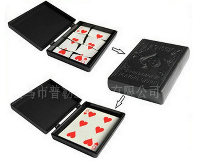 Tear into pieces of the card is restored to the original professional magician magic box Magic2-029