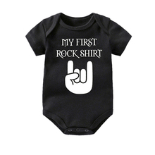 Culbutomind baby short Sleeve cotton Baby Bodysuit Cute boy Clothes jumpsuit Infant Outfit Body Rock 0-12 Months