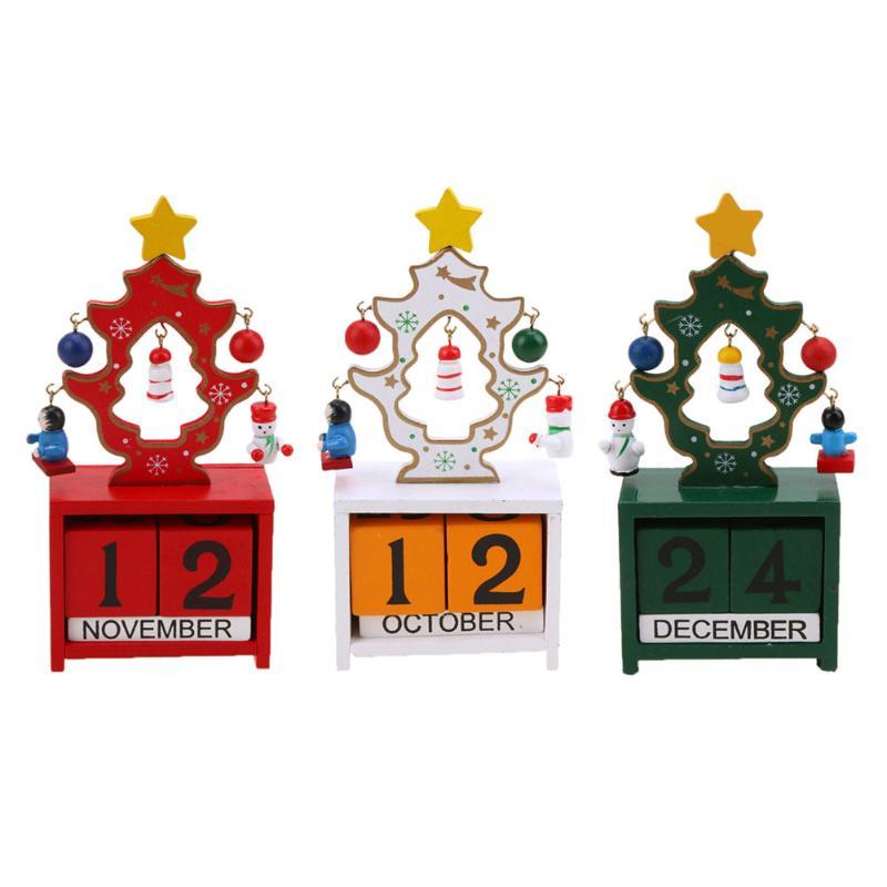 Joyeux Noël Calendrier de L'avent En Bois Créative De Noël Cadeaux De Noël Décorations pour La Maison Natal Natal Nouvel An Décoration