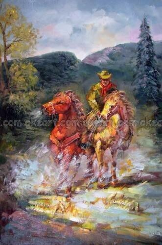 Popular Cowboy Horse Art Buy Cheap Cowboy Horse Art Lots
