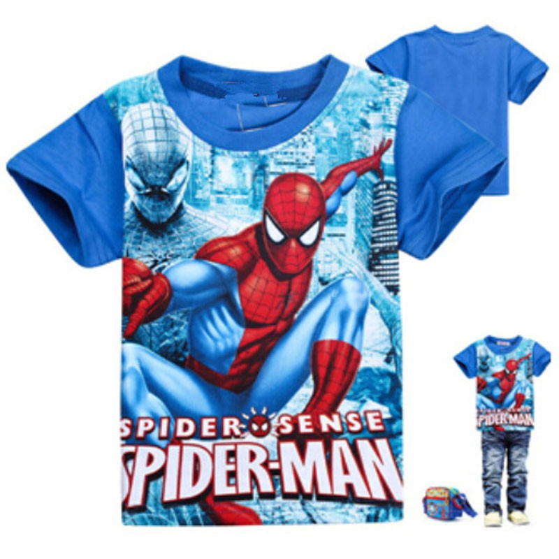 2018 New summer children tees boys 3Y 9Y dinosaurio y Spider-Man - Ropa de ninos - foto 5