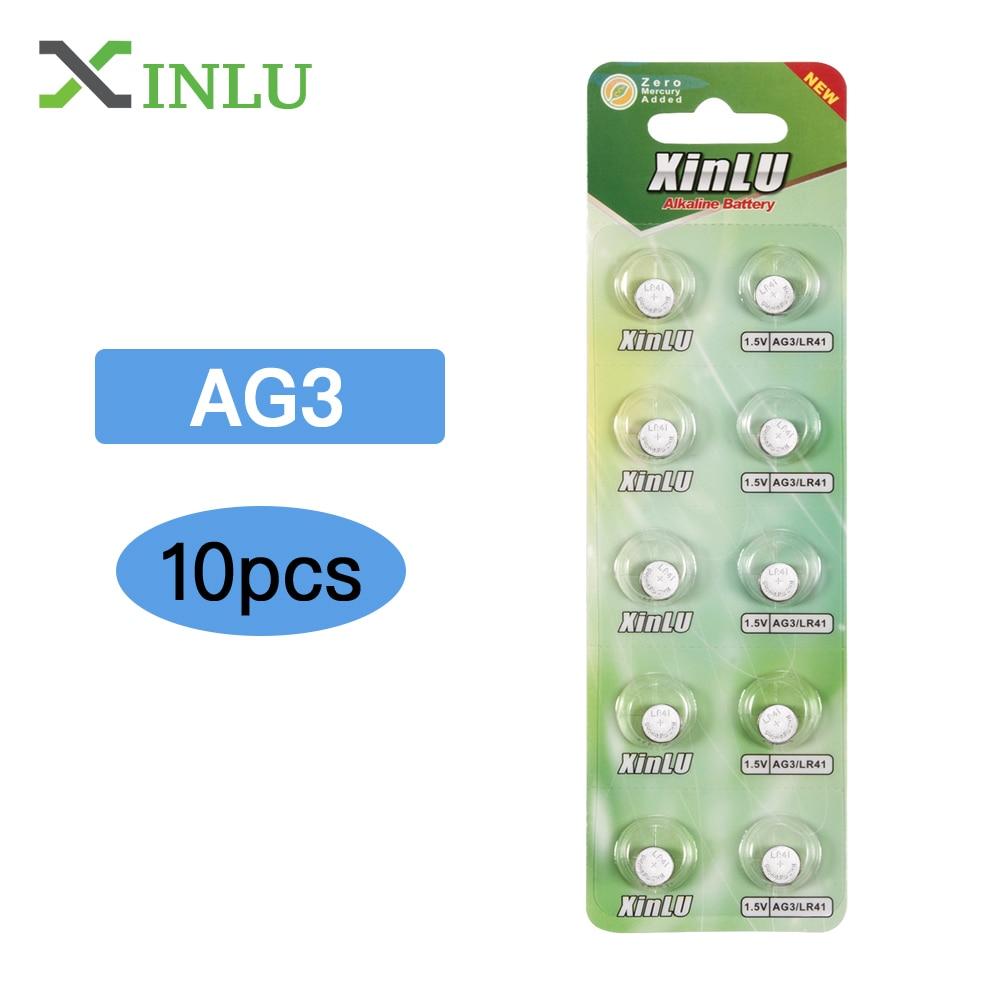 10pcs LR41 Battery AG3 392A SR41SW 384 LR736 V3GA 192 1.5V Button Cell Coin Battery AG3 Battery Lr41 LR 41 Lithium Watch Battery