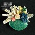 Amazon Pedra Natural Pedra Semi-preciosa Pinos Broche Pingente Com Pérolas Reais 5155A Frete Grátis Mulheres Jóias