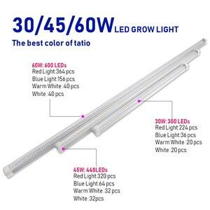 Image 2 - 20Pcs/lot LED grow light 30W 45W 60W T8 Tube Full Spectrum LED Grow Light Indoor Plants Phyto Lamps Bar for Vegetable grow tent