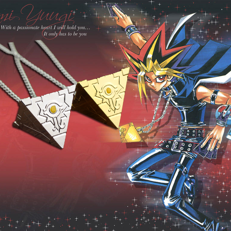 3D Yu-Gi-Oh Necklace Gold / Silver Plated Anime Yugioh Millenium Pendant Jewelry Toy Yu Gi Oh Cosplay Costume Gift ...