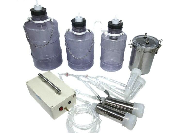 1PCS Elektrische Melkmachine Koe Geit Schapen Melker Dual Vacuümpomp Emmer Voedselveiligheid Niveau Plastic Melkmachines