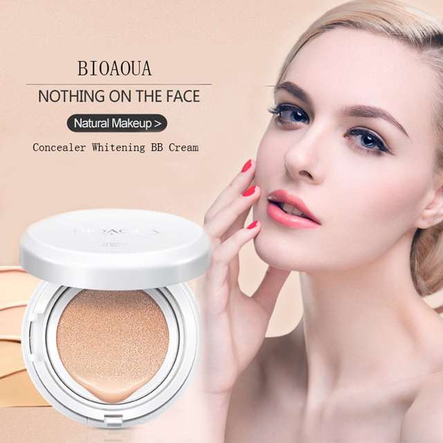 BIOAOUA Sunscreen Air Cushion BB CC Cream Concealer Moisturizing Foundation Whitening Makeup Bare For Face Beauty Makeup care 4