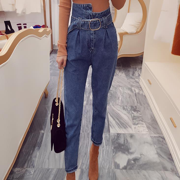 Spring Summer Fashion Jeans  Casual Women Jeans Denim Jeans Harem Pants Women Loose  High Waist