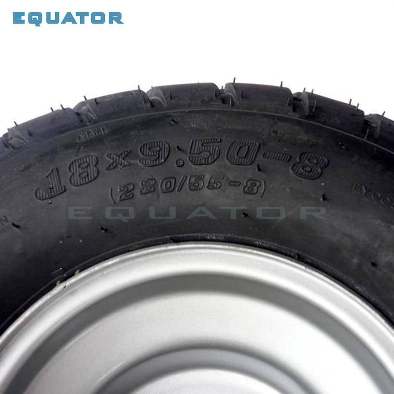 ATV 8 pouces sous vide haute résistance à l'usure pneus 18X9. 50-8 18*9.50-8 (220/55-8) pneus de route avec roues en fer - 3