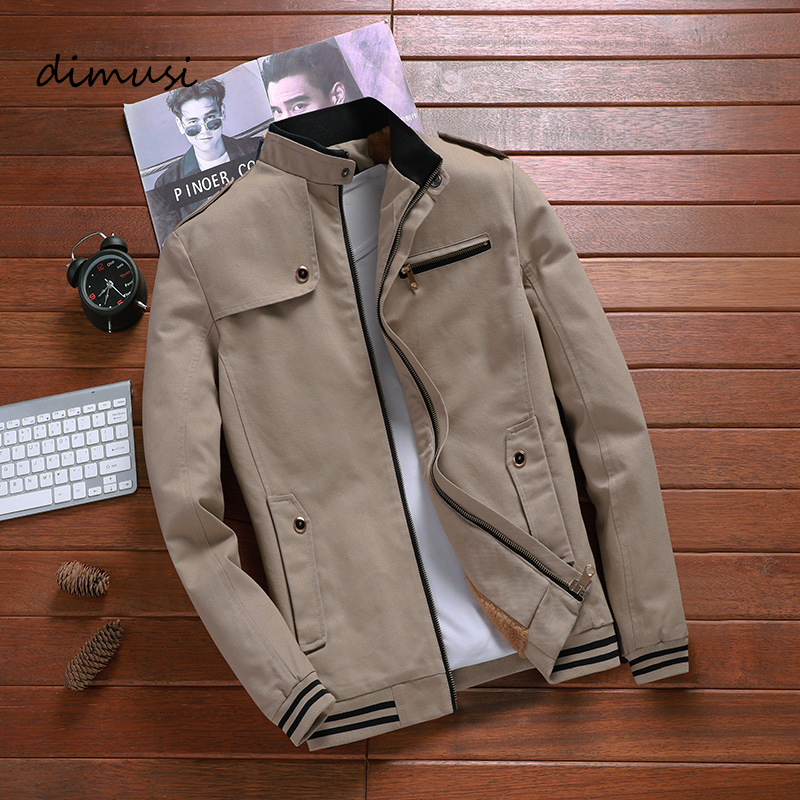 DIMUSI Autumn Mens Bomber Jackets Casual Male Outwear Windbreaker Stand Collar Jacket Mens Baseball Slim Coats Clothing 5XL