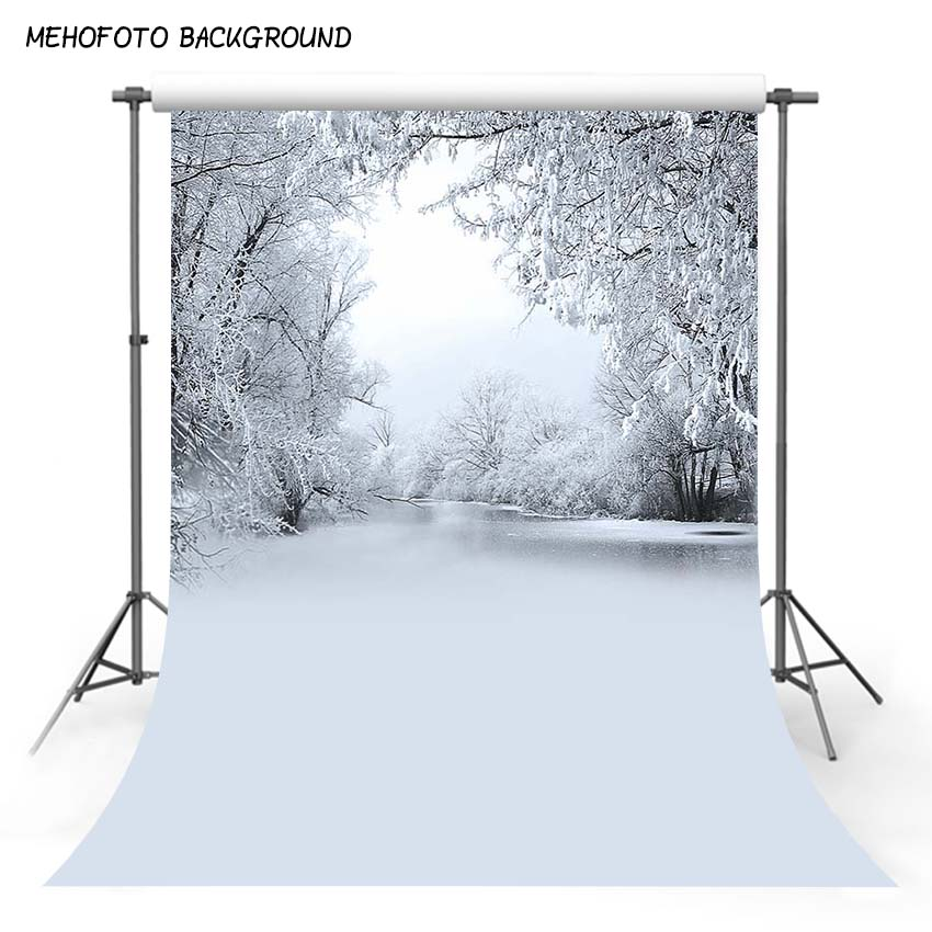 MEHOFOTO Photography Background Photo Studio Props 5X7FT Thin Vinyl Wedding Photo Backdrops Winter Snow Photo Background S-1896 sjoloon forest photography backdrops wood floor photography background summer photo photo background photo studio vinyl props