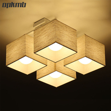 Vintage Fabric cloth  ceiling light  Atmosphere modern  living room ceiling lamp Nordic bedroom indoor  lighting