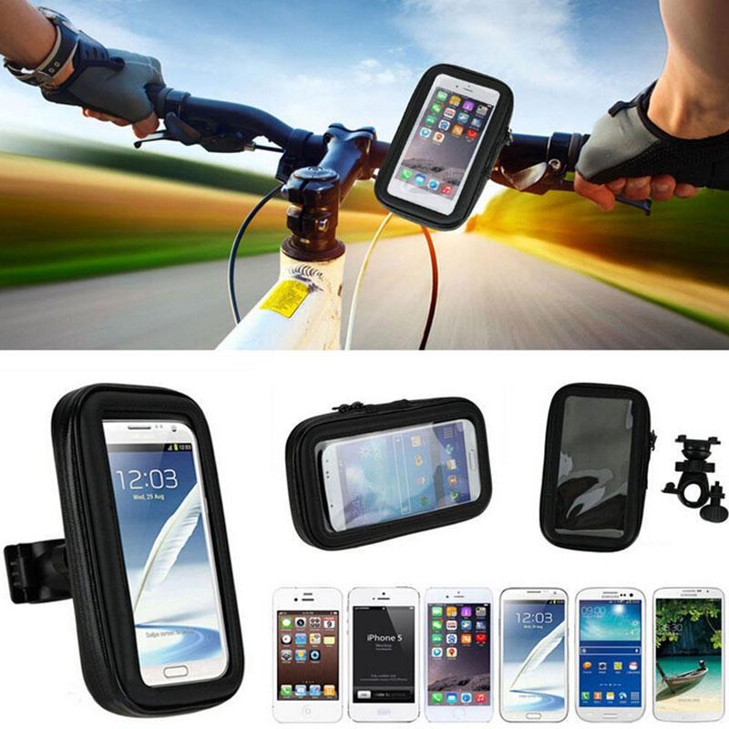 For Samsung Galaxy S8 5.5 Bike Motocycle Handlebar Mount Waterproof Phone Case Huawei P8 Lite 2017 Cover Bicycle Holder Bag