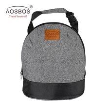Aosbos Оксфорд изолированные обед сумки для женщин и детей Портативный серый Термальность Обед сумка Box мужчин пищевых Пикник Бенту сумка-холодильник Tote