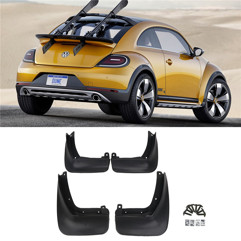 For Volkswagen VW Beetle 2012-2017 Front Rear Molded Car Mud Flaps Mudflaps Splash Guards Mud Flap Mudguards Fender // fit for bmw x3 f25 11 15 molded mudflaps mud flap splash guard mudguards fender free shipping lzh