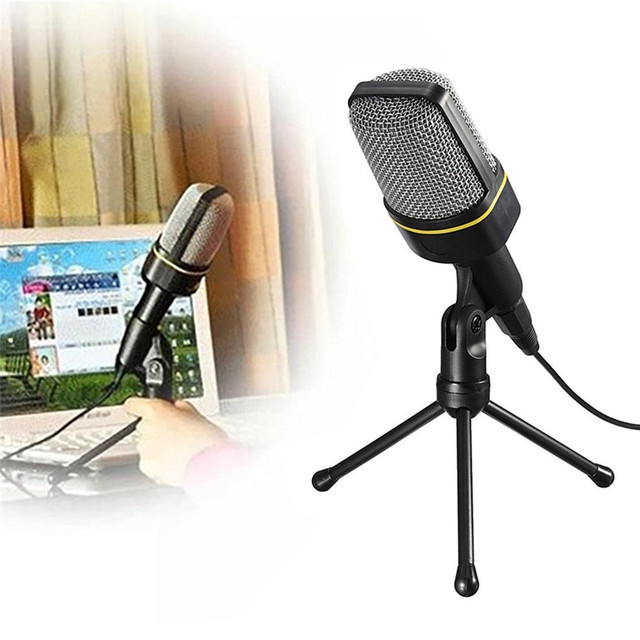 SF-920 Professional Condenser Wired Computer Microphone +Tripod Stand for PC Laptop Notebook Studio Recording 40PCS/Lot Free DHL