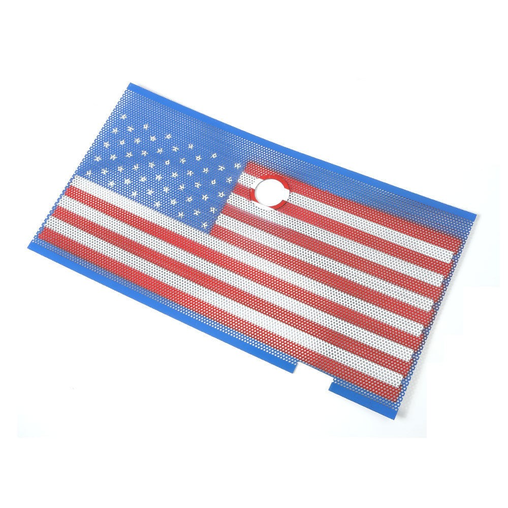 Métal états-unis USA Type de drapeau Grille avant garde insérer trou de verrouillage Anti insecte Bug maille cadre pour Jeep Wrangler 2007-2016