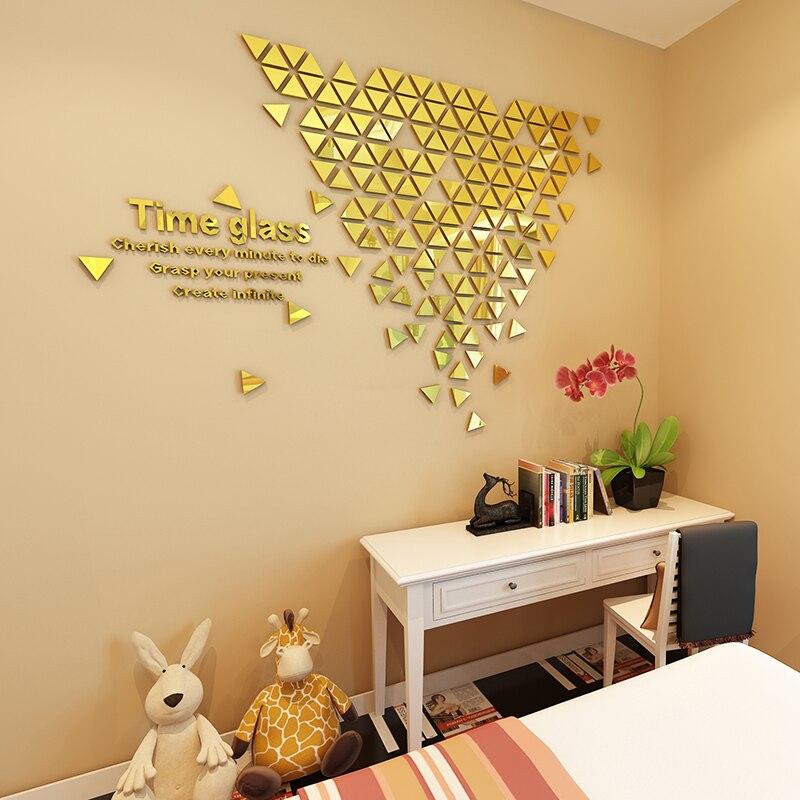 Creative inversé angle 3d auto-adhésif miroir mur autocollant moderne porche restaurant décoration salon chambre mur