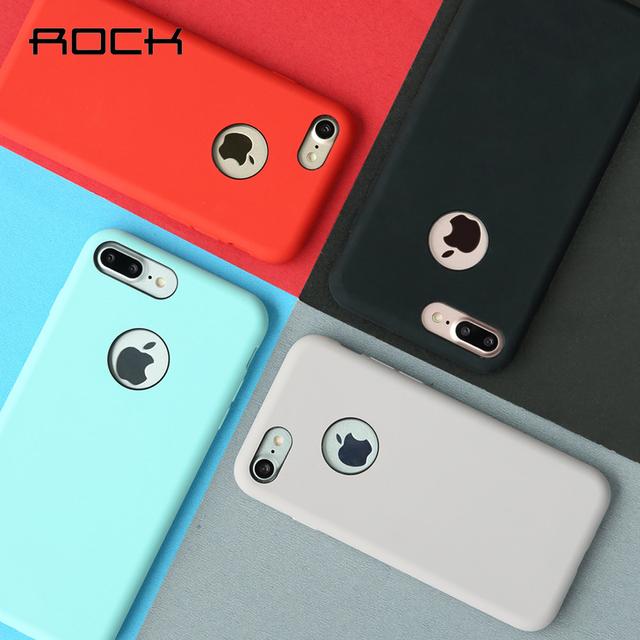 Rocha para iphone 7/7 mais capa de silicone anti choque de proteção tampa do telefone soft case para iphone7
